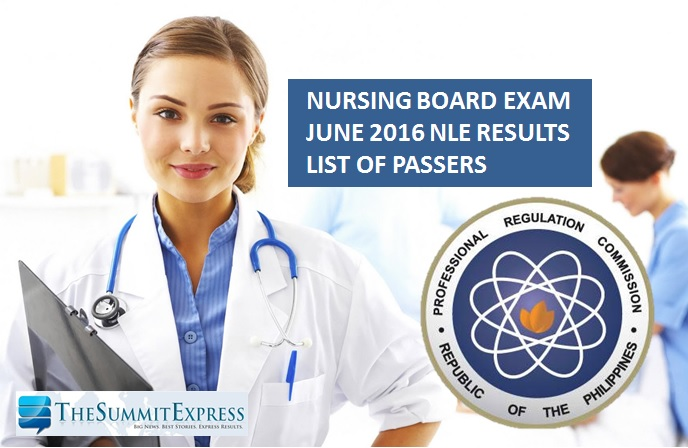 June 2016 NLE Results Nursing Board Exam