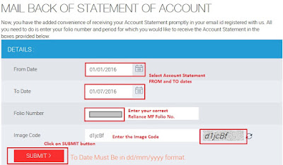 Reliance Mutual Fund - Download Account Statement