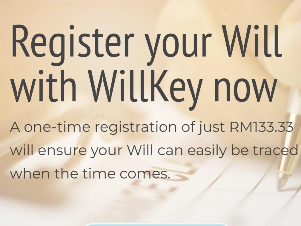 WillKey™ Pusat Pendaftaran, Penyimpanan dan Percarian Wasiat