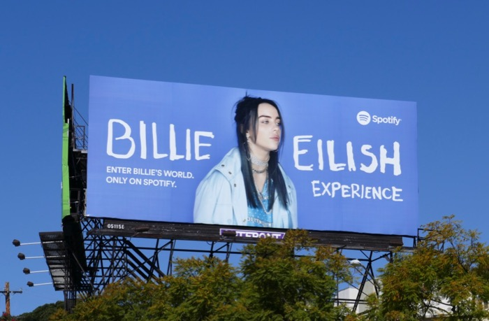 Billie Eilish Experience Spotify billboard
