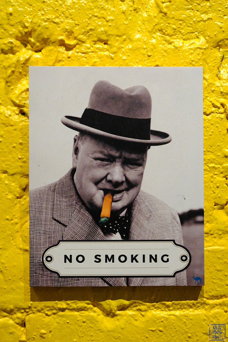 Le Chameau Bleu - Affiche no Smoking du restaurant Le Botaniste Nyc New York