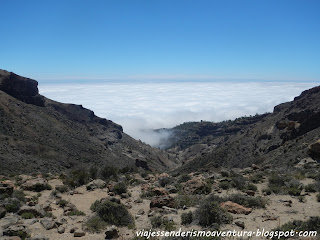 Parte del camino desde/hacia la montaña de Guajara