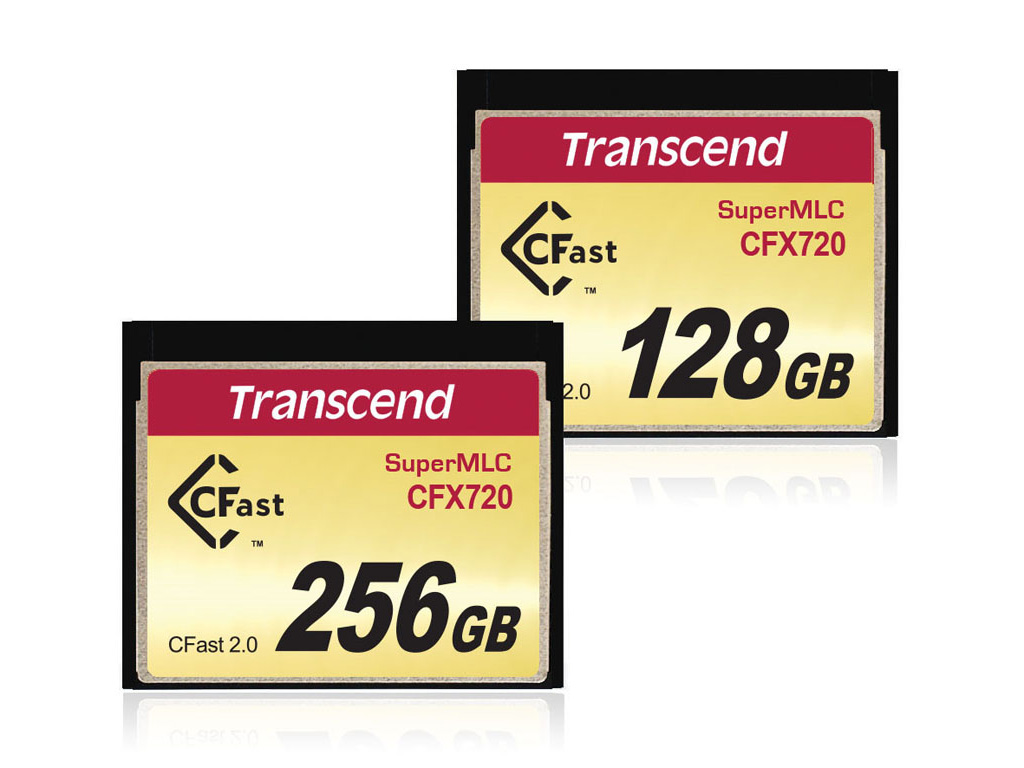 Transcend Industrial-Grade SuperMLC CFast 2 CFX720 Memory Cards