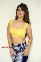 Cute Telugu Actress Shunaya Solanki High Definition Spicy Pos in Yellow Top and Skirt  0027.JPG