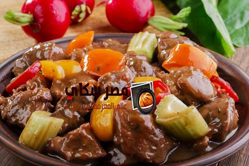 خطوات عمل الكوسة باللحم الضانى بالفديو zucchini with meat
