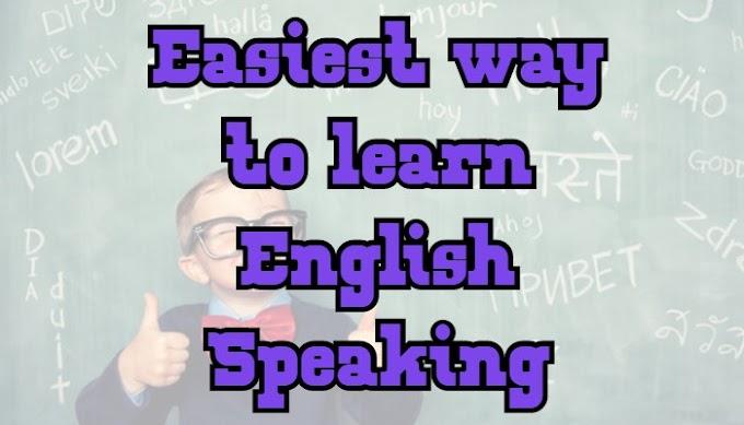 Easiest way to learn English Speaking Best Method