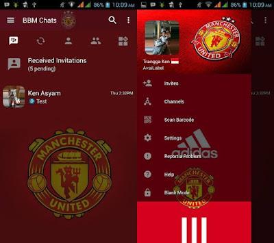 BBM MOD Manchester United Update Apk Terbaru