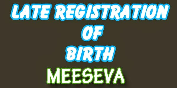 Late Registration of Birth Applly Meeseva