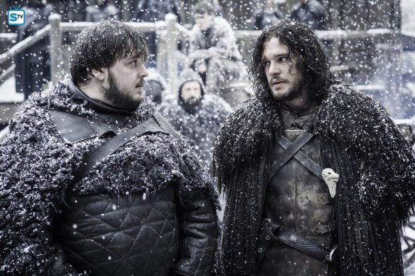 Game of Thrones 5x09 - Jon Nieve y Sam Tarly