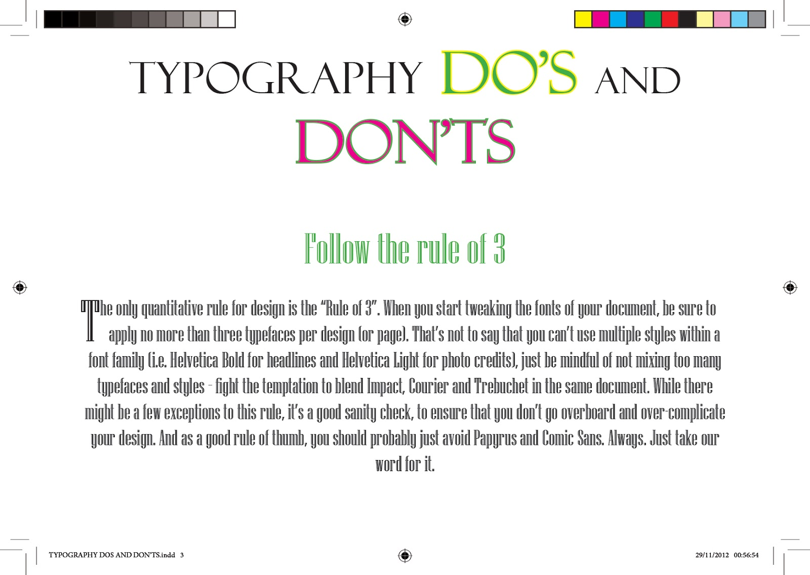 TYPOGRAPHY DO's AND DONT's