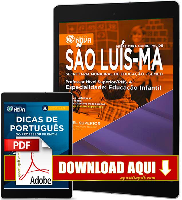 Apostila SEMED 2016 PDF Download São Luís Professor de Educação Infantil