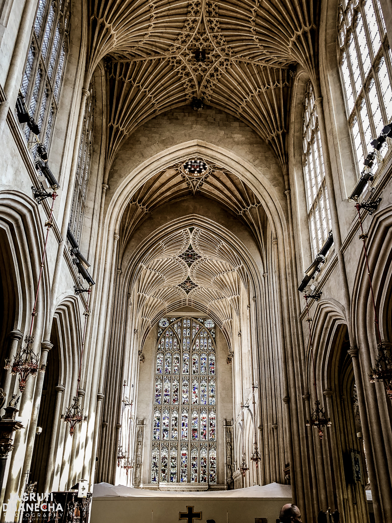 Beautiful vaulted ceilings in Bath Abbey, Bath United Kingdom