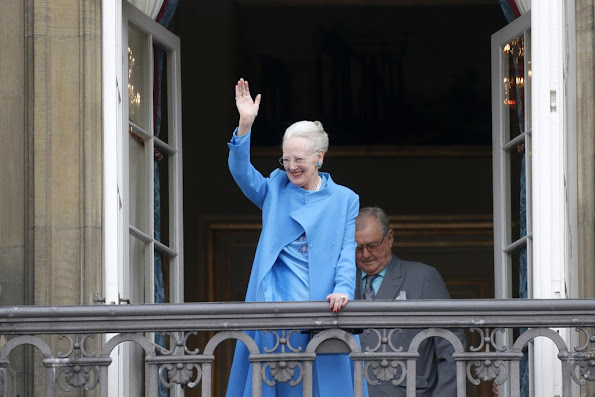 Queen Margrethe II of Denmark and husband Henrik, Prince Consort of Denmark,