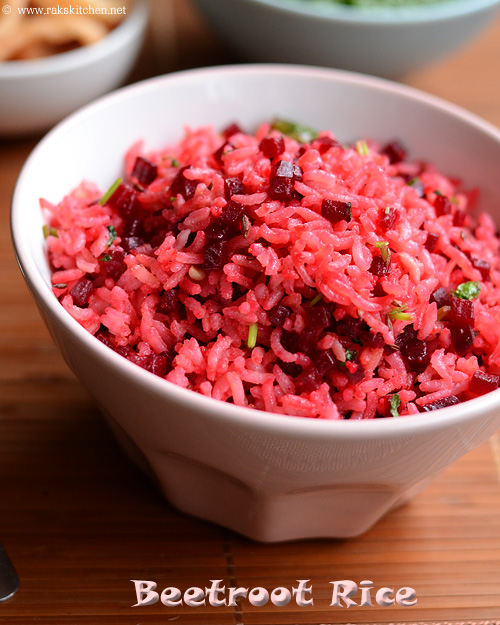 Easy beetroot rice indian lunch box ideas raks kitchen easy beetroot rice indian lunch box ideas forumfinder Images