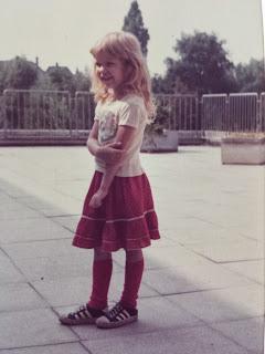 Angela Gaede mit 4 Jahren