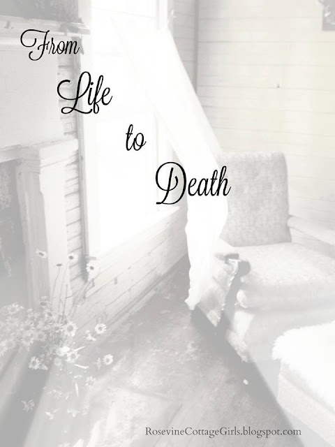 From Life to death, empty room with chair and blowing white curtain