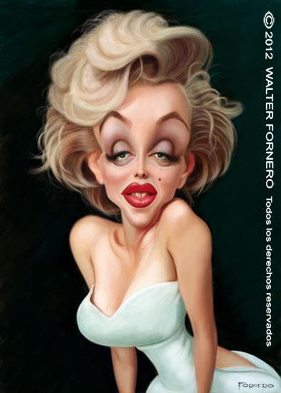Marylin Monroe por Walter Fornero