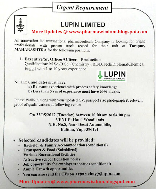 a case study on lupin limited Case studies chapter 6 from the water table in the tailings had declined to elevations near the base of the tailings as a result of limited the case study of.