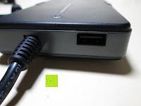 am Gerät: kwmobile Universal Notebook Ladegerät Netzteil 90W und USB Anschluss, Adapter für Acer, Asus, Lenovo, Liteon, Samsung, Sony, Toshiba und weiteren