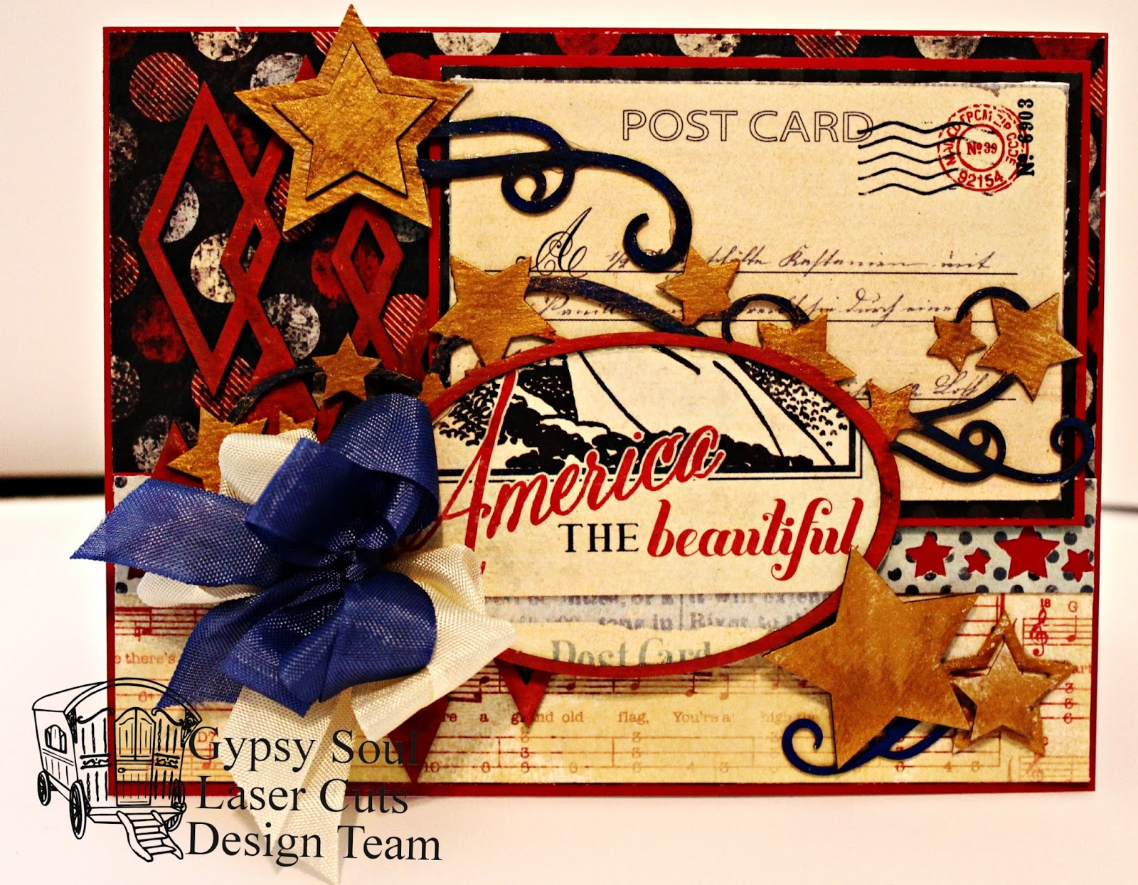 Gypsy Soul Laser Cuts America The Beautiful Card By Pam Bray