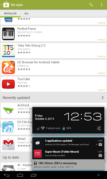 Google Play Store 4.3.11 Recently Updated