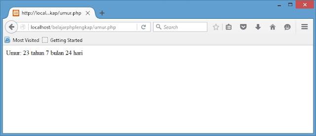 Menghitung Umur Berdasarkan Tanggal Lahir dengan PHP
