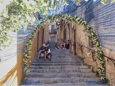 Flower festival Temps de Flors in Girona Catalonia