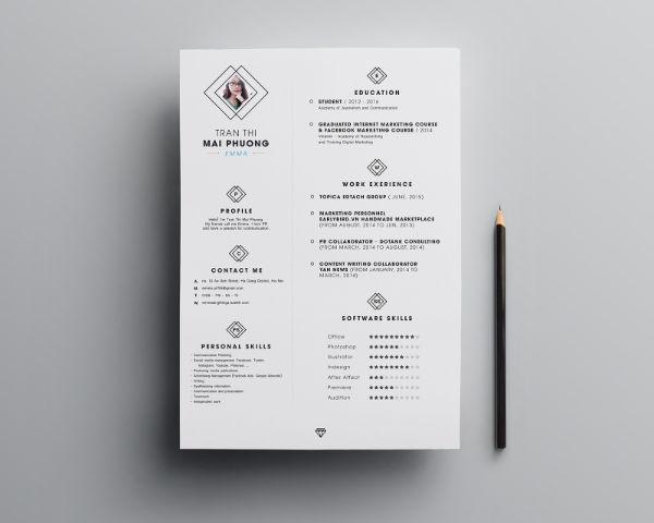 10  template resume  cv  kreatif simple minimalis gratis