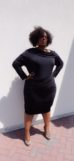 little black dress, monif c, lbd, LBD, plus size fashion, plus size, full figured, full figured fashion, nicole dress