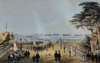 ペリー提督横浜上陸の図