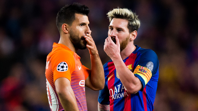 'Diundang' Messi Gabung Barcelona, Ini Jawaban Aguero