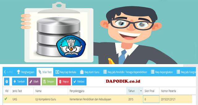 [WAJIB] Nomor Peserta UKG Harus Diisi Pada Aplikasi Dapodik - http://dapo.dikdasmen.kemdikbud.go.id