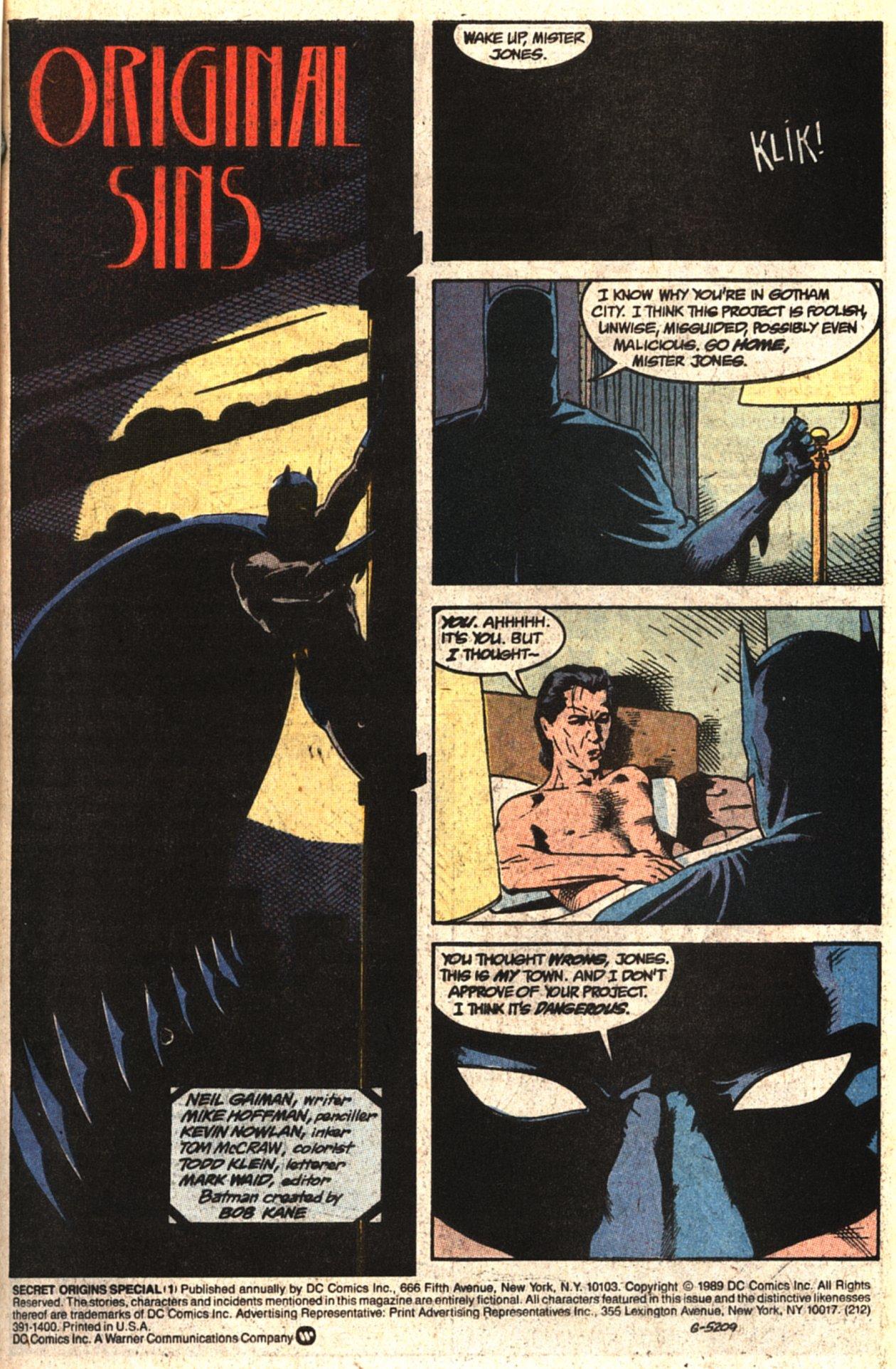 Read online Secret Origins (1986) comic -  Issue # _Special 1 - 2