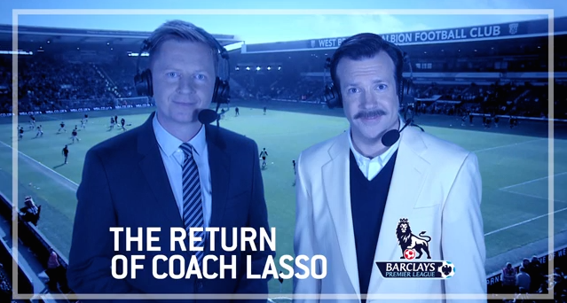 a9ce9f9e5d0 Jason Sudeikis is back as Coach Ted Lasso. VIDEO