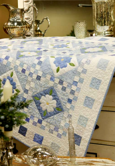 Blue Delft Quilt designed by Cheryl Almgren Taylor of Quilting Daily