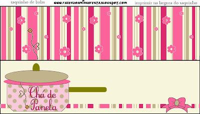 Cha De Panela Kit Completo Com Molduras Para Convites Rotulos