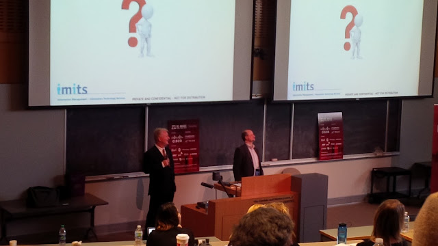 Oliver Gruter-Andrew and Richard Staynings conduct a Q&A at the BC Aware Privacy and Security Conference
