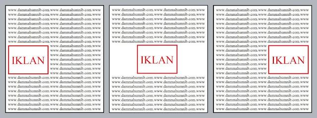 Cara Memasang Iklan Dalam Artikel (Blog Post) - Tengah, kiri, kanan, center