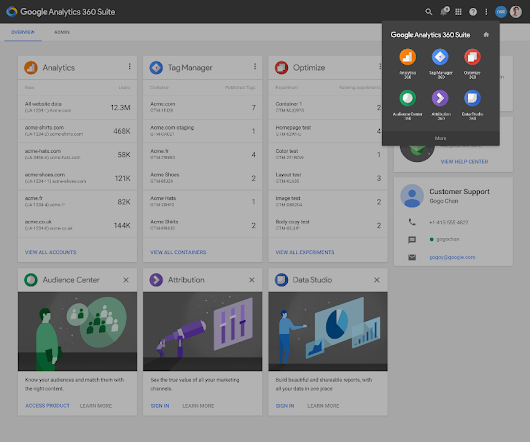 Introducing the Google Analytics 360 Suite