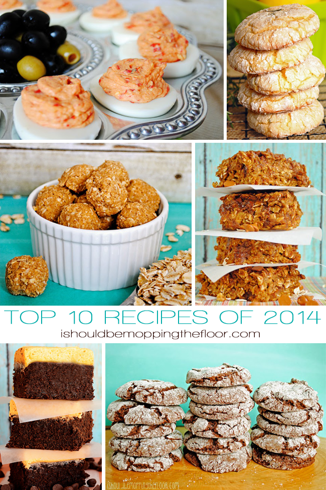 Top 10 Recipes of 2014 from I Should Be Mopping the Floor