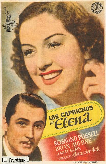 Los Caprichos de Elena - Programa de Cine - Rosalind Russell - Brian Aherne