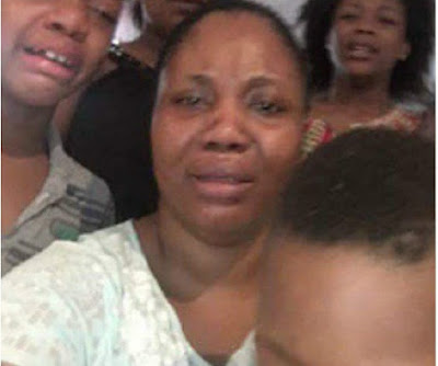 See Photo of Evans' Wife and Children Crying as They Beg Nigerians for Mercy