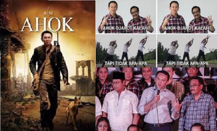 Gambar Meme Lucu AHOK Teraru Untuk DP BBM, Line, Whatsapp Asli Kocak