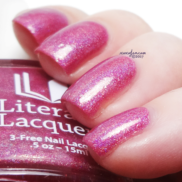 xoxoJen's swatch of Literary Lacquers Always Tea Time