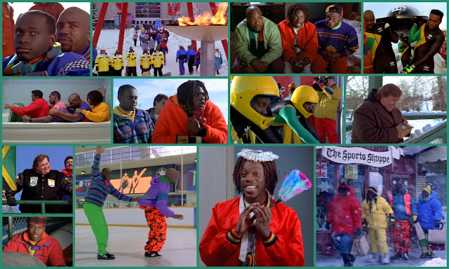 Cool Runnings Disney 90s sports movie starring John Candy. Inspired by the true story of the Jamaican Bobsleigh team with lots of brightly coloured 90s fashion. Feelgood Autumn movie.