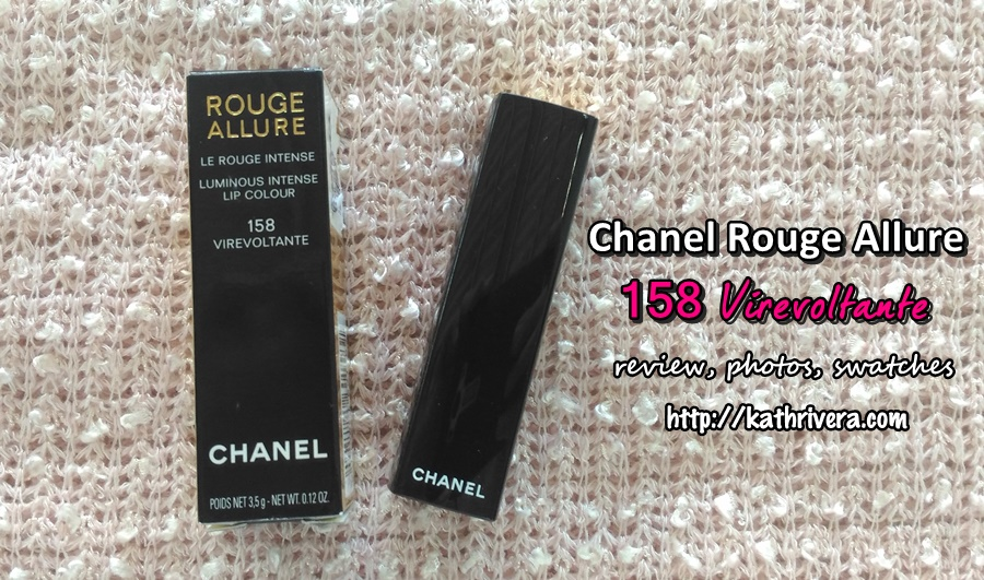 ff768d65cb4 Product Review  Chanel Rouge Allure 158 in Virevoltante