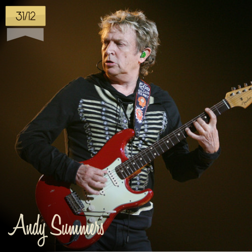 31 de diciembre | Andy Summers - @OfficialSting | Info + vídeos