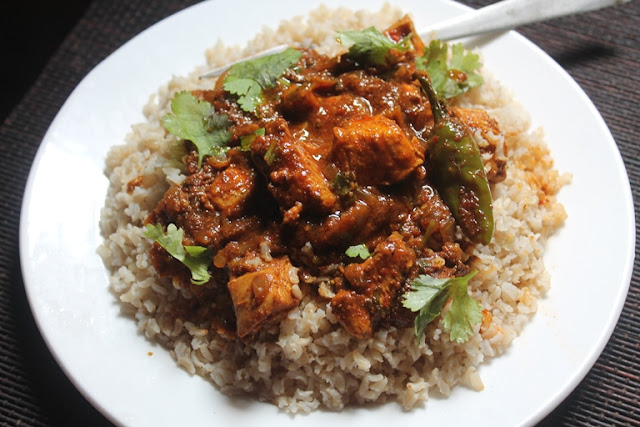 Indian Curry Rice Recipe - Indian Chicken Curry with Brown Rice