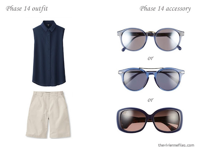 How to Build a Capsule Wardrobe of Accessories in a Navy, Beige and Poppy color palette