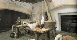 medieval kitchen bread housewife almond milk barley week medievel historian luckily bit working reynolds caleb